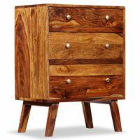 vidaXL Bočná skrinka, masívne sheeshamové drevo, 60x35x76 cm