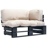 vidaXL Záhradná sedačka z paliet s pieskovými podložkami, borovica