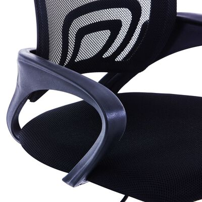 vidaXL Kancelárska stolička s mriežkovaným operadlom čierna látková