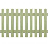 vidaXL Latkový plot, impregnovaná borovica 170x100 cm, 6/9 cm