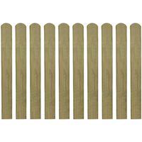 vidaXL Impregnované plotové dosky 30 ks, drevo 80 cm
