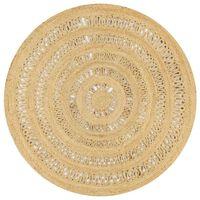 vidaXL Ručne vyrobený koberec z pletenej juty 150 cm