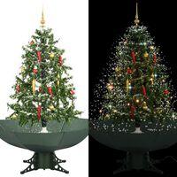 vidaXL Snežiaci vianočný stromček dáždnikovým podstavcom  zelený 140 cm