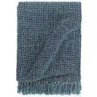 vidaXL Deka 125x150 cm indigovo-modrá bavlnená