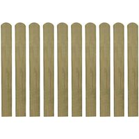 vidaXL Impregnované plotové dosky 10 ks, drevo 80 cm