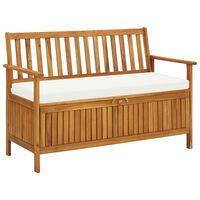 vidaXL Záhradná úložná lavica, akáciový masív XL 120x63x84 cm