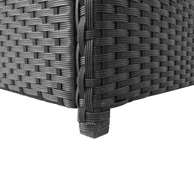 vidaXL Záhradný úložný box čierny 120x50x60 cm polyratanový