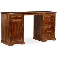 vidaXL Písací stôl, masívne sheeshamové drevo, 140x50x76 cm