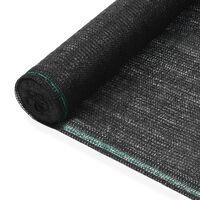 vidaXL Zástena na tenisový kurt, HDPE 1,6x25 m, čierna