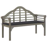 vidaXL Záhradná lavica Queen s podložkou 135 cm akáciový masív sivá