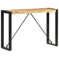 vidaXL Konzolový stolík 110x35x76 cm mangovníkový masív