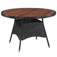 vidaXL Záhradný stôl 115x74 cm, polyratan a akáciový masív