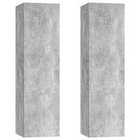 vidaXL TV skrinky 2 ks betónové sivé 30,5x30x110 cm drevotrieska
