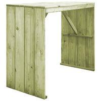 vidaXL Barový stôl 130x60x110 cm, impregnovaná borovica
