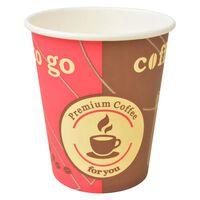 vidaXL 1000 ks Jednorazové poháre na kávu papierové 240 ml (8 oz)