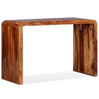 vidaXL Bočný stolík/stolík z masívneho sheesamového dreva, hnedý