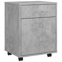 vidaXL Rolovacia skrinka betónovo sivá 45x38x54 cm drevotrieska