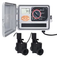 vidaXL Záhradný regulátor zavlažovania s 2 solenoidnými ventilmi