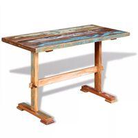 vidaXL Jedálenský stôl s podstolinou, recyklovaný masív 120x58x78 cm