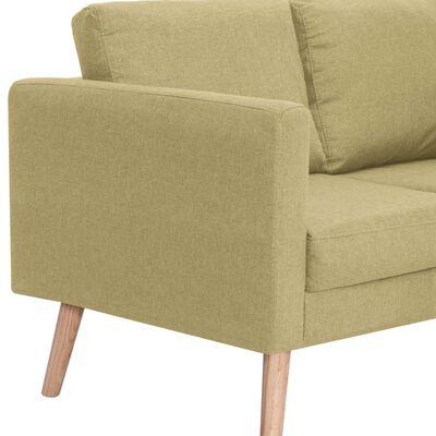 vidaXL Látková 2-dielna sedacia súprava zelená