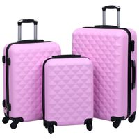 vidaXL Súprava cestovných kufrov s tvrdým krytom 3 ks ružová ABS