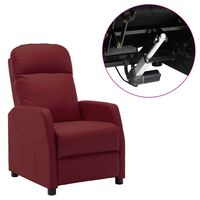 vidaXL Electric Reclining Chair Wine Red Faux Leather (321356+327164)