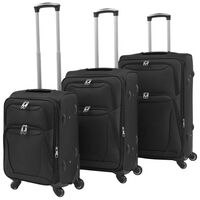 vidaXL Sada 3 cestovných kufrov, čierna