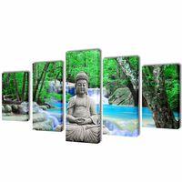 Sada obrazov na stenu, motív Buddha 100 x 50 cm