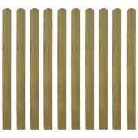 vidaXL Impregnované plotové dosky 30 ks, drevo 120 cm