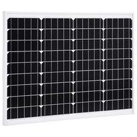 vidaXL Solárny panel hliník a bezpečnostné sklo 50 W monokryštalický