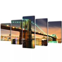 Sada obrazov na stenu, motív Brooklynský most 100 x 50 cm
