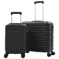 vidaXL Súprava cestovných kufrov s tvrdým krytom 2 ks čierna ABS