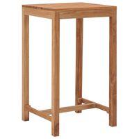 vidaXL Záhradný barový stôl 60x60x105 cm teakový masív