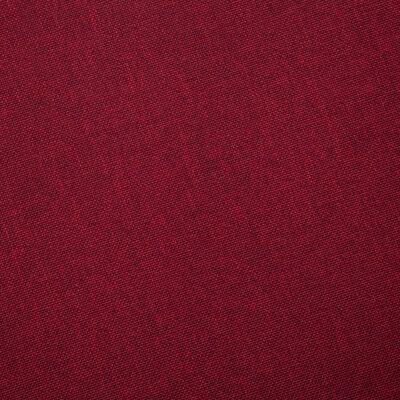 vidaXL Látková 2-miestna pohovka vínovo-červená