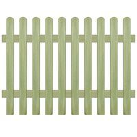 vidaXL Latkový plot, impregnovaná borovica 170x120 cm, 6/9 cm