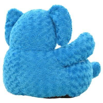 vidaXL Hračka plyšový slon modrý
