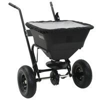 vidaXL Posypový vozík na soľ, PVC a oceľ 106x73x76 cm, 45 l