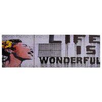 vidaXL Sada nástenných obrazov na plátne Wonderful rôznofarebná 120x40 cm