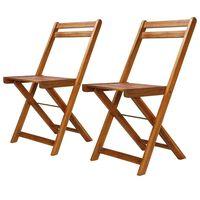 vidaXL Vonkajšie bistro stoličky 2 ks, akáciový masív
