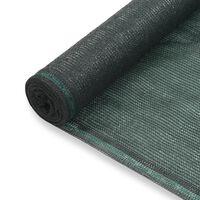 vidaXL Zástena na tenisový kurt, HDPE 1x50 m, zelená