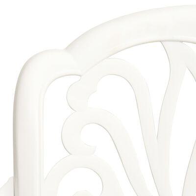 vidaXL 5-dielna bistro súprava liaty hliník biela