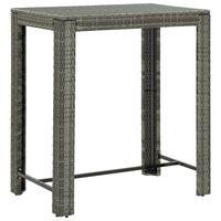 vidaXL Záhradný barový stolík sivý 100x60,5x110,5 cm polyratanový