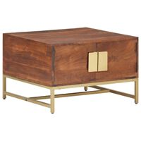 vidaXL Konferenčný stolík medovohnedý 67x67x45 cm akáciový masív