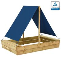 vidaXL Pieskovisko so strechou 160x100x133 cm impregnované borovicové drevo