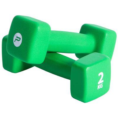 Pure2Improve Jednoručné činky 2x2 kg neoprénová zelená