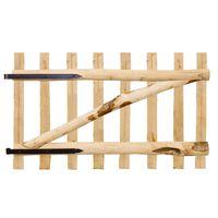 vidaXL Jednokrídlová brána, lieskové drevo, 100x60 cm