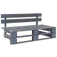 vidaXL Záhradná lavička z paliet, drevo, sivá