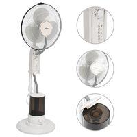 vidaXL Stojanový ventilátor s výrobou hmly 3 rýchlosti fúkania biely