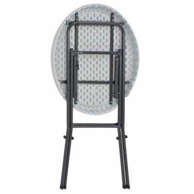 vidaXL Skladací barový stôl, biely 80x110 cm, HDPE