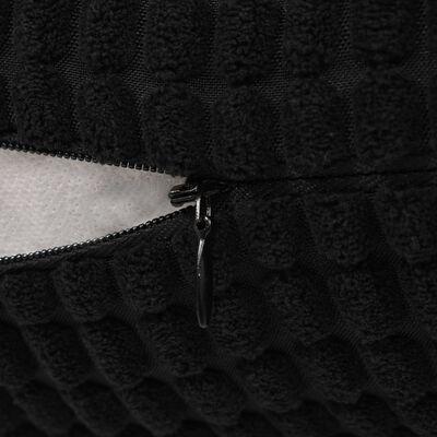 vidaXL Sada dekoratívnych vankúšov, 2 ks, velúr, 45x45 cm, čierna